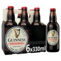 Guinness Original Extra Stout Beer 6 x 330ml Bottle