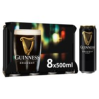 Guinness Draught Stout Beer 8 x 500ml Can