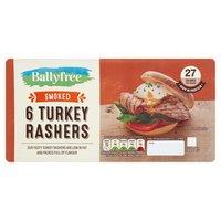 Ballyfree 6 Smoked Turkey Rashers 150g