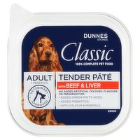 Dunnes Stores Classic Dog Food Tender Paté with Beef & Liver- Adult 150g