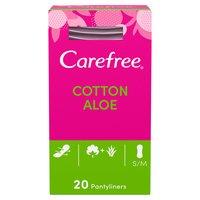 Carefree® Cotton Aloe Pantyliners 20ct