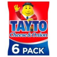 Tayto Cheese & Onion Flavour Potato Crisps 6 x 25g