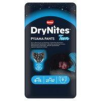 Huggies® DryNites®, Pyjama Pants, Boy, 8-15 Years (27-57kgs), 9 Pants
