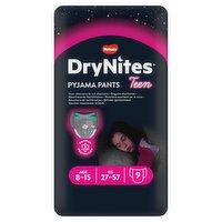 Huggies® DryNites®, Pyjama Pants, Girl, 8-15 Years (27-57kgs), 9 Pants