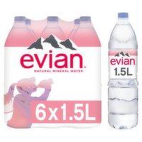 evian Still Natural Mineral Water 6 x 1.5L
