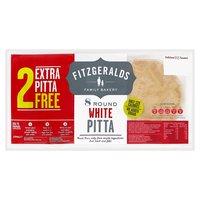 Fitzgeralds Family Bakery 8 Round White Pitta 480g