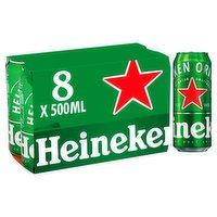 Heineken Lager Beer 8 x 500ml