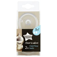 Tommee Tippee Closer to Nature 2 Med Flow Teats 3m+