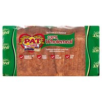 Pat the Baker Be Healthy Range 100% Wholemeal Traditional Sliced 800g