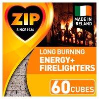 Zip Energy+ Firelighters 60 Cubes