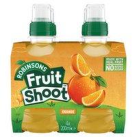 Fruit Shoot Orange Kids Juice Drink 4 x 200ml