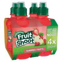 Fruit Shoot Summer Fruits Kids Juice Drink 4 x 200ml