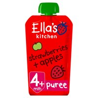 Ella's Kitchen Organic Strawberries and Apples Baby Pouch 4+ Months 120g
