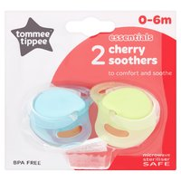Tommee Tippee Essentials 2 Cherry Soothers 0-6m