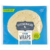 Fitzgeralds Family Bakery 6 Plain Wraps 370g