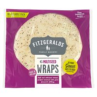 Fitzgeralds Family Bakery 6 Multiseed Wraps 370g