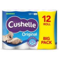 Cushelle White 12 Toilet Rolls