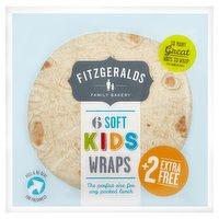 Fitzgeralds Family Bakery 6 Soft Kids Wraps 320g