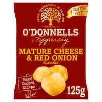 O'Donnells Mature Cheese & Red Onion Flavour Crisps 125g