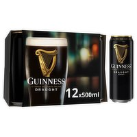 Guinness Draught Stout Beer 12 x 500ml Can