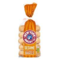 New York Bakery Co. 5 Sesame Bagels Fresher for Longer 425g