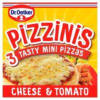 Dr. Oetker Pizzinis 3 Tasty Mini Pizzas Cheese & Tomato 290g