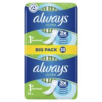 Always Ultra Sanitary Towels Normal (Size 1) 30 Pads