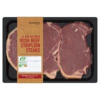 Dunnes Stores Irish Beef Striploin Steaks 540g