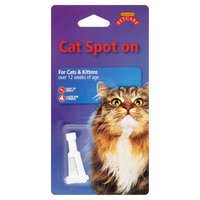 Gullivers PetCare Cat Spot On for Cats & Kittens Over 12 Weeks of Age 0.8ml