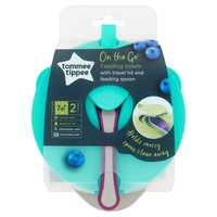 Tommee Tippee 2 On the Go Feeding Bowls 7m+