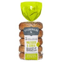 Fitzgeralds Family Bakery 5 Deli Style Multiseed & Cereal Bagels 425g