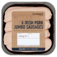 Dunnes Stores 8 Irish Pork Jumbo Sausages 454g