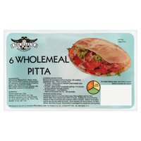 Michael's Pitta Bakery 6 Wholemeal Pitta