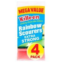 Killeen Mega Value Rainbow Scourers 4 Pack