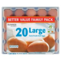 Dunnes Stores 20 Large Farm Fresh Irish Eggs