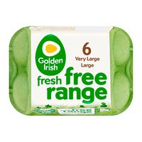 Golden Irish Fresh Free Range 6 Very Large/Large Eggs