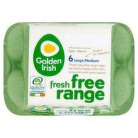 Golden Irish Fresh Free Range 6 Large/Medium Eggs 348g
