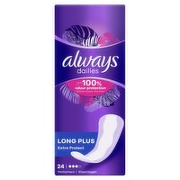 Always Dailies Extra Protect Panty Liners Long Plus x24