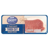 Henry Denny & Sons 6 Traditional Thick Cut Bacon Slices 240g
