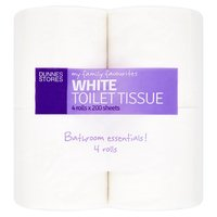 Dunnes Stores My Family Favourites White Toilet Tissue 4 Rolls x 200 Sheets