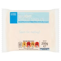 Dunnes Stores My Family Favourites 10 Light Cheese Singles 200g