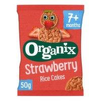 Organix Strawberry Organic Baby Finger Food Snack Rice Cakes 50g