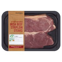 Dunnes Stores Irish Beef Striploin Steaks 360g