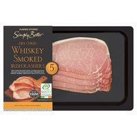 Dunnes Stores Simply Better Dry Cured Whiskey Smoked Irish Rashers 250g