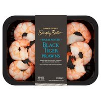Dunnes Stores Simply Better Warm Water Black Tiger Prawns 125g