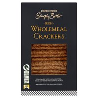 Dunnes Stores Simply Better Irish Wholemeal Crackers 140g