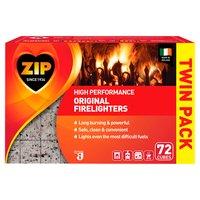 Zip High Performance Original Firelighters Twin Pack 72 Cubes