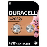 Duracell Specialty 2032 Lithium Coin Battery 3V, pack of 2 (DL2032/CR2032)