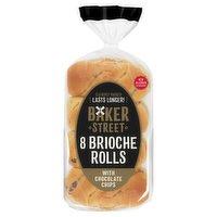 Baker Street 8 Brioche Rolls with Chocolate Chips