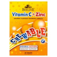 Beeline Vitamin C + Zinc Orange Flavour Chewable Tablets 30 Tablets